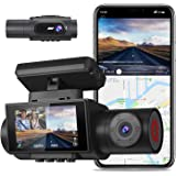 AQP Dual Dash cam, 4K Single Front Camera 2560P Front and 1080P Inside Cabin Dash Camera, with WiFi GPS, Infrared Night Visio