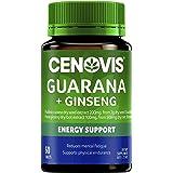 Cenovis Guarana 2000mg and Ginseng 500mg Tablets - Supports physical endurance and stamina, 60 Tablets