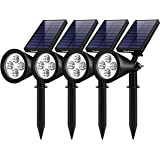 InnoGear InnoGear Upgraded Solar Lights 2-in-1 Waterproof Outdoor Landscape Lighting Spotlight Wall Light Auto On/Off for Yar