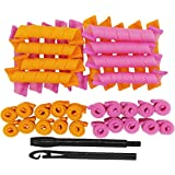 LZLRUN Short Spiral Curls Styling Kit - 38pcs