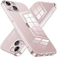 NIMASO ケース iPhone13mini 用 クリアカバー iphone13ミニ 対応 強化ガラス背面 耐黄変 耐…