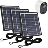 Uogw 3 Pack Solar Panel Charge for Arlo Ultra/Ultra 2/Arlo Pro 3,with 11.5ft Waterproof Magnetic Power Cable, Adjustable Moun