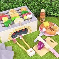 マザーガーデン Mother garden おままごと 〔木製 ままごと バーベキューセット 食材15点付き〕 BBQ 焼肉 623-63835