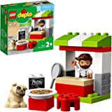 LEGO DUPLO Town Pizza Stand 10927 Pretend Play Pizza Set for Toddlers, Learning Toy for Kids Ages 2 and Over