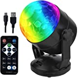 Remote Control Portable Sound Activated Party Lights for Outdoor and Indoor, Battery Powered or USB Plug in, Dj Lighting, RBG