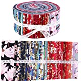 Roll Up Cotton Fabric Quilting Strips, Fabric Jelly Rolls, Cotton Craft Fabric Bundle, Patchwork Craft Cotton Quilting Fabric