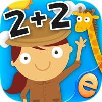 男の子と女の子のための最高の事前K、幼稚園や1級数字、カウント、加算と減算活動ゲーム:スキル無料で子供のための動物数学ゲーム