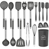 Silicone Cooking Utensil Set, AILUKI Kitchen Utensils 14 Pcs Cooking Utensils Set,Non-Stick Heat Resistant Silicone,Cookware