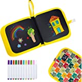 HXN Erasable Drawing Board, Reusable Doodle Board with 12 Colored Erasable Pens, Double-Sided Drawing Pad, Portable Drawing B