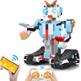 AOKESI Building Block Robot Kits for Kids, Remote & APP Control Robot Snap Together Engineering Kits STEM Building Toys Best