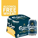 CARLSBERG Alcohol-Free Wheat Beer Can, 330 ml (Pack of 4)