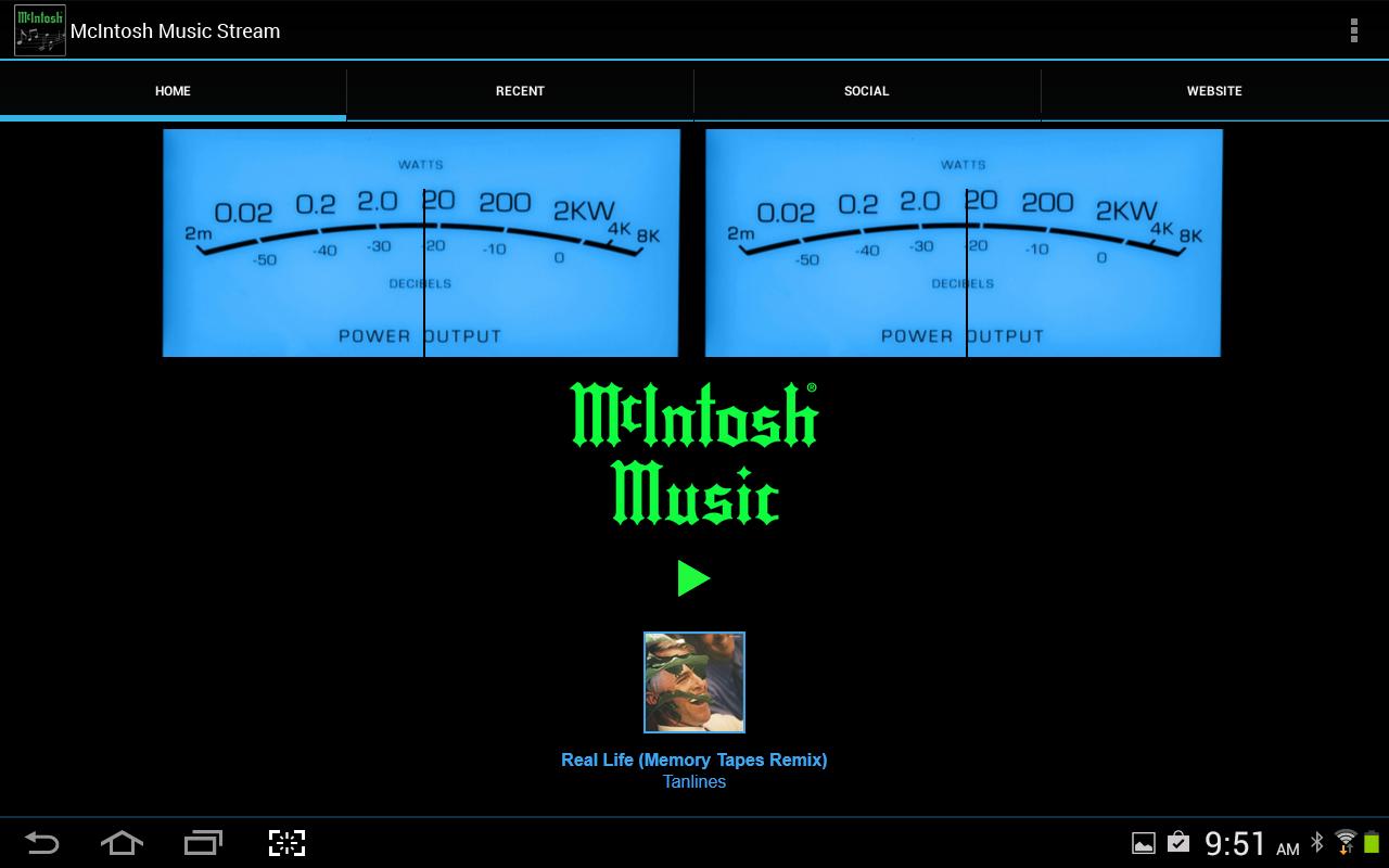McIntosh Music Stream Tablet