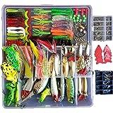 Smartfishing 1 Set 275Pcs Fishing Lure Tackle Kit Bionic Bass Trout Salmon Pike Fishing Lure Frog Minnow Popper Pencil Crank
