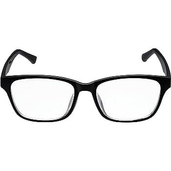エレコム ブルーライトカットメガネ 日本製 クリアレンズ ウェリントン 男女兼用 OG-YBLC-W01BK