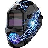 YESWELDER True Color Solar Powered Auto Darkening Welding Helmet, Wide Shade 4/9-13 for TIG MIG ARC Weld Hood Welder Mask