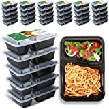 TT Meal Prep Containers 2 Compartments 30Ounce 51 Pack Food Prep Container Reusable Heavy Duty Container To Go Container,BPA