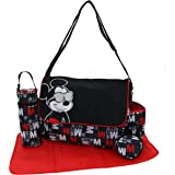 """Disney Mickey Mouse Multi Pc Diaper Bag Set with Mickey Mouse""""Hip Mickey"""" Print (Includes Changing Pad, Pacifier Holder, Insu"""