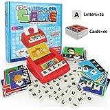 HAPTIME Literacy Wiz Game, Zingo Word Builder, Alphabet Letters Spelling Board Game for Preschool and Kindergarten (60 Flash