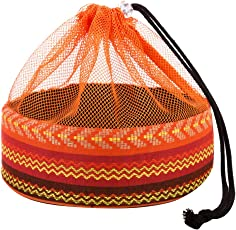 Fenteer ポリエステル 綿 食器バッグ 収納バッグ 巾着バッグ 収納袋 キャンプ ピクニック バーベキュー用