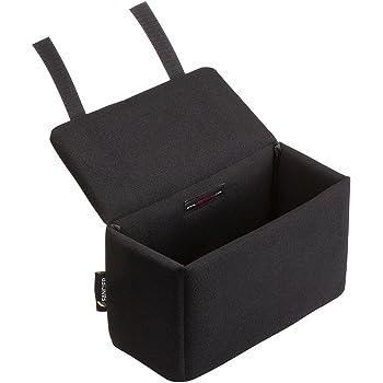 サンワダイレクト カメラバッグ インナーボックス 仕切り2枚付 一眼レフ クッション13mm厚 ブラック 200-BG019LBK