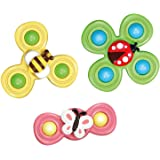 3 Packs Fidget Hand Spinner with Suction Cup, Kids Spinning Top Hand Spinner Stress Relief Toy for Autism and ADHD