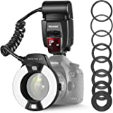 Neewer Macro TTL Ring Flash Light with LED AF assist lamp for Canon E-TTL TTL Cameras / such as Canon EOS 5D Mark II EOS 6D E