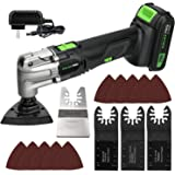 Oscillating Tool, GALAX PRO 20V Lithium- Ion Cordless Oscillating Multi-Tool with 1.3Ah Battery and Charger, 3pcs Blade and 1