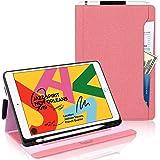 iPad 8 ケース2020 iPad 10.2 ケース第8世代(2020) iPad 10.2 ケース第7世代(2019) Toplive 高級PUレザー スタンド機能 オートスリープ機能 カードポケット付き ペンホルダー付き 手帳型 薄型 耐衝撃