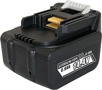 【日本メーカーによる保証とサポート】Enelife マキタ14.4V/6000mAh 電動工具用互換バッテリー ▽正規PSEマーク 5億円の製造物責任保険付保△ (通常版:6000mAh)