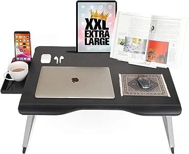 Cooper Table Mate [折りたたみ式ノートパソコンデスク ベッド&ソファ用] ソファテーブル ベッドデスク ノートパソコン ライティング 勉強 食事用   ストレージ 読書スタンド ブラック