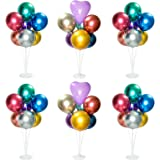 6 Sets Balloon Stand Kit, Table Balloon Stand Holder, Reusable Centerpiece with Base for Birthday Decorations, Party, Wedding