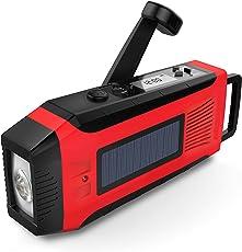 SOMECOOL懐中電灯 LEDラジオライト手回し充電 携帯充電器 iPhone Android 全スマホ充電対応可能 単4電池&内蔵電池2000mAh対応防災セット 防災グッズ 地震・震災・津波・停電 緊急対策