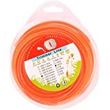 MEMX String Trimmer Line.102-Inch-by-120-ft 1/2-Pound Grass Trimmer Line Donut,Round-Shaped Nylon Weed Eater String,Orange.