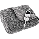Dreamaker 500GSM Faux Fur Electric Heated Coral Fleece, Throw, Rug, Snuggle Blanket | Reversible, Super Soft, Warm and Cozy,