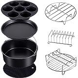 7 Set Pressure Cooker, Steamer & Air Fryer Bakeware Accesories Compatible with Ninja Foodi 5&6.5&8 qt(OP101,OP301,OP302,OP401