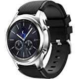 T Tersely Sport Band Strap for Samsung Galaxy Watch 3 45mm, 22mm Soft Silicone Metal Buckle Replacement Bands Sports for Sams