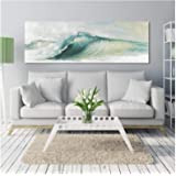 Abstract Wave Pictures Posters and Prints Wall Art Canvas Painting for Living Room Home Decor (60X180cm) Frameless