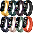 Monuary Straps Compatible with Xiaomi Mi Band 6 / Amazfit Band 5 / Xiaomi Mi Band 5, Colourful Silicone Replacement Watch Str