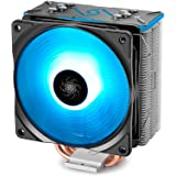DEEPCOOL GAMMAXX GT BK CPU Air Aio Cooler, SYNC RGB Fan and RGB Black Top Cover Cable or Motherboard Control Supported 4 Heat