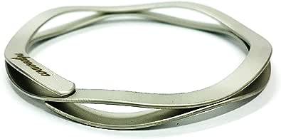 マネークリップ/ラージタイプ(外径60mm)/ブラスト加工/カードもはさめる/ステンレス製/国産メーカー/レーザー刻印