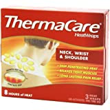 ThermaCare Air-Activated Heatwraps Neck Wrist & Shoulder 3 HeatWraps (Pack of 7)