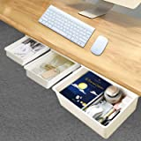 Under Desk Drawer -Storage and Organizers Easy to Install/Multi-Scene Use-3Pack (1XXL-2S)