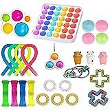 Fidget Toy Pack, Sensory Fidget Toys Set, Figetget Toys Pack Figit Toys Pack with Simple Dimple Anti-Anxiety Tools Fidgeting
