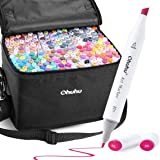 Ohuhu Alcohol Markers, Double Tipped Art Marker Set for Kids Adults Coloring Book Sketch Illustration, Alcohol-Based Markers,