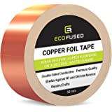 Eco-Fused Adhesive Copper Foil Tape - Double-Sided Conductive - EMI, Rf Shielding, Paper Circuits, Electrical Repairs, Ground