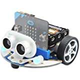 Elecfreaks microbit Smart Cutebot Kit for Kids BBC Micro:bit Robot Car, DIY Programmable Robot Kit, STEM Educational Project,