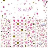 NALER 桜ステッカー 桜シール 褒美シール 手帳飾り 招待状 お祝いプレゼント 8枚セット
