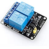 SunFounder 2 Channel DC 5V Relay Module with Optocoupler Low Level Trigger Expansion Board for Arduino UNO R3 MEGA 2560 1280