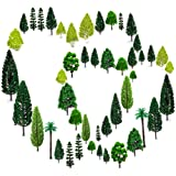 OrgMemory 36pcs Mixed Model Trees 1.5-6 inch(4-16 cm), Ho Scale Trees, Diorama Supplies, Model Train Scenery, Trees for Proje