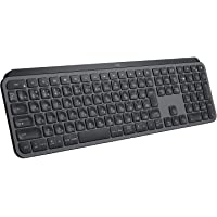 ロジクール アドバンスド ワイヤレスキーボード KX800 MX KEYS 充電式 bluetooth Unifying…